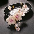 pink plum blossom hair clip flower Bridal Headpiece Vintage wedding noble hair pins Hairgrips bride hair accessories