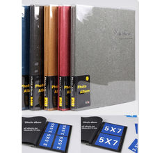 Self Adhesive Photo Album Red Blue Black Yellow Gray Colors Loose-leaf PP Film 1-200 Photos Yearbook Picture Album Welding Gift(China)