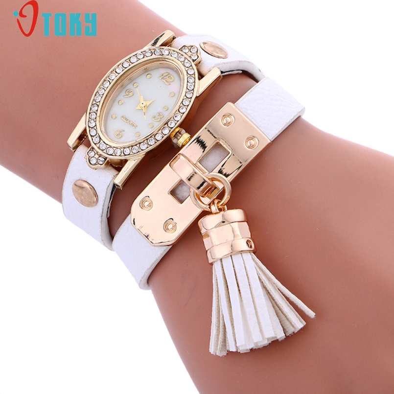 Excellent Quality 2017 Relogio Masculino Leather Strap Bracelet Watch Women Watches Ladies Quartz Wristwatch Relogio Mar 24