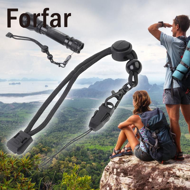 Hiking Airsoftsports Tactical Military Paracord Strap Lanyard Flashlight Camera Phone Keys Knife Rope Outdoor Camping Sports