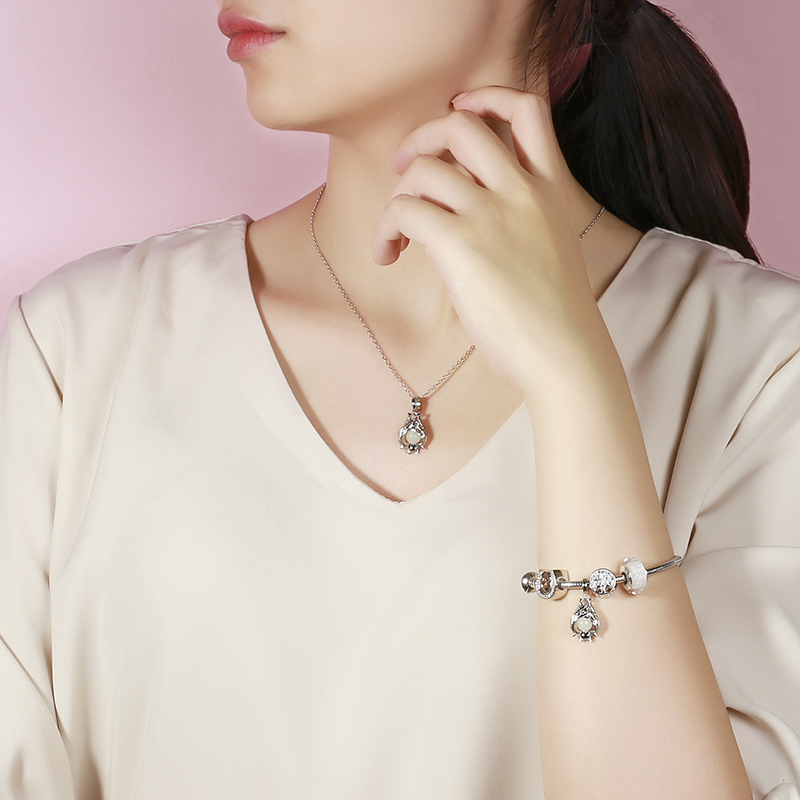 StrollGirl Silver 925 bat growing charms pendant beads Fit original Pandora Bracelet diy fashion Jewelry making for women gift in Beads from Jewelry Accessories
