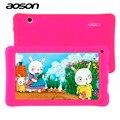 Best selling crianças tablet com capa de silicone de 7 polegada aoson m751s-bs babypad android 4.4 512 mb/8 gb 1024*600 dual câmeras para criança