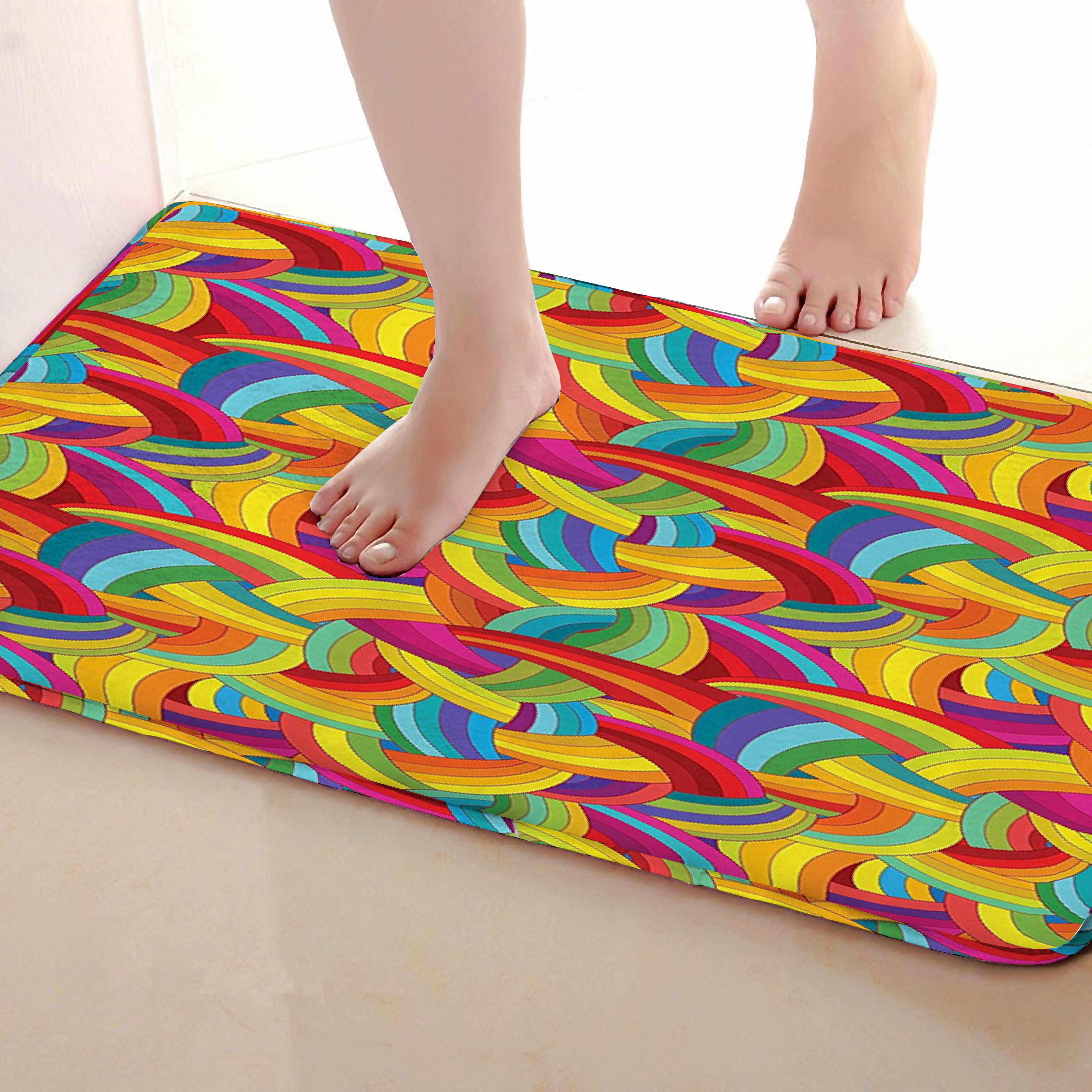 Weaving Style Bathroom Mat,Funny Anti skid Bath Mat,Shower Curtains Accessories,Matching Your Shower Curtain