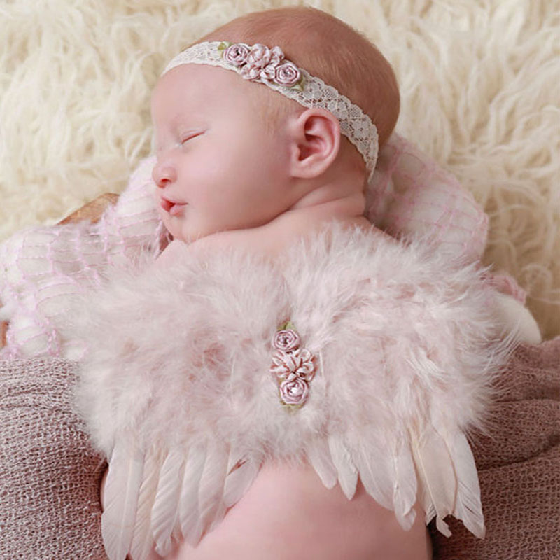 Boys Costume Accessories Dependable Cute Newborn Pink Angel Feather Wings&headband Costume Photo Prop Outfit For Gift Kids Costumes & Accessories