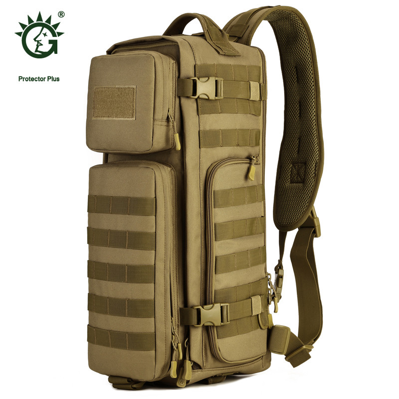 Protector Plus Airborne Chest Bag Army Fans Military Multi-Function Nylon Women Large Capacity Single Shoulder Handbag P011 legend airborne бермуды