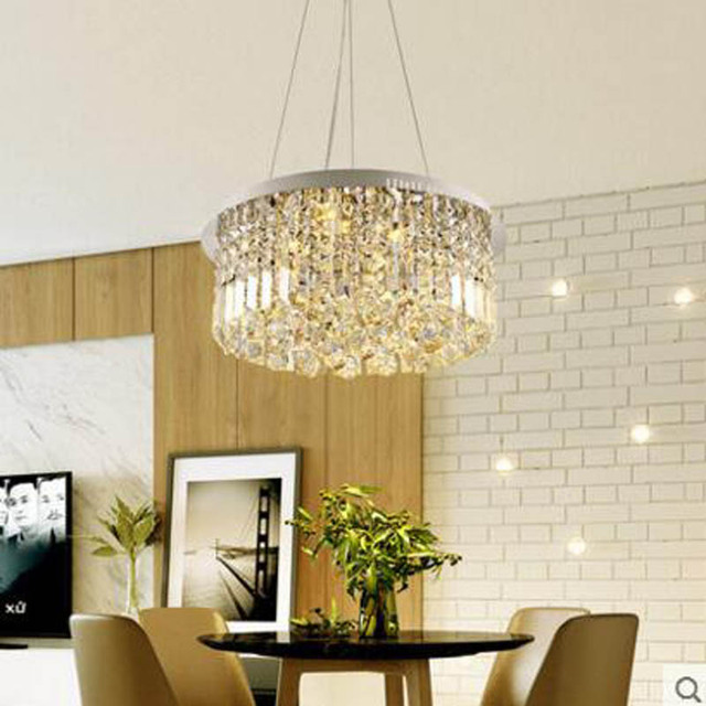 Crystal Chandelier Modern Minimalist Dining Creative Fashion Personality Led Light Luxury Room Lamp