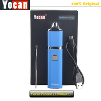 100 Original Yocan Pandon Wax PEN Kit 1300mAh Battery Wax Vaporizer Pens Quartz Dual Coil QDC