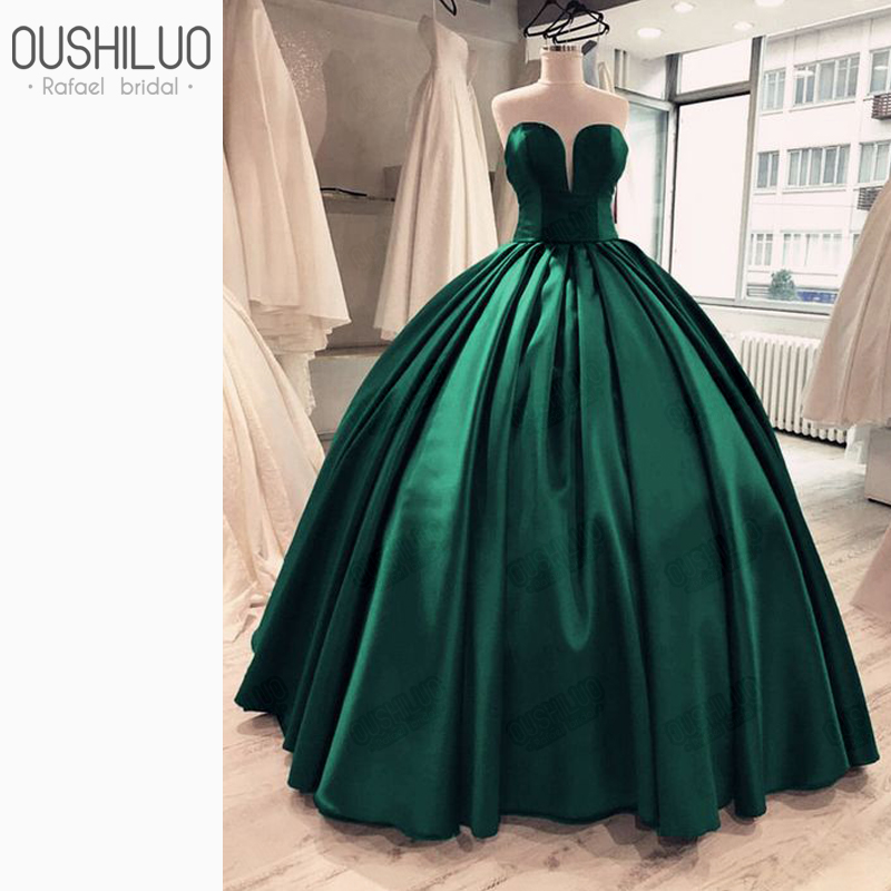 Vintage Emerald Quinceanera Dresses Ball Gown Custom Made New Sweetheart Sleeveless Dark Green Lovely Princess Puffy Party Wear