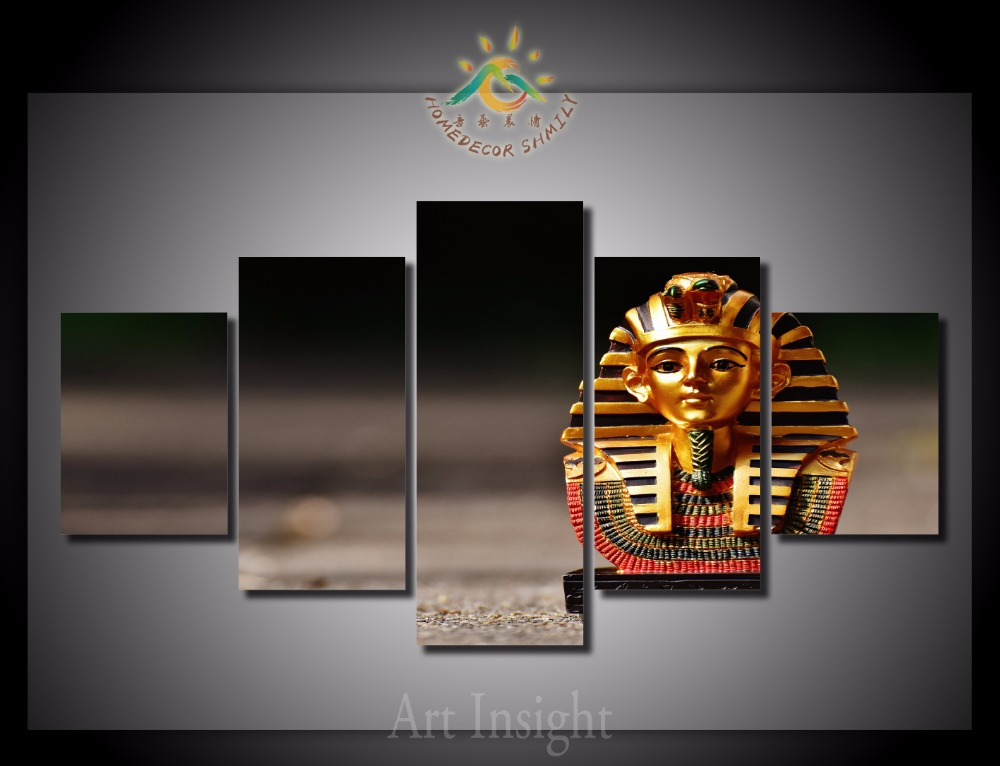5 pieces set egyptian modern wall art for wall decor home for Modern decorative pieces