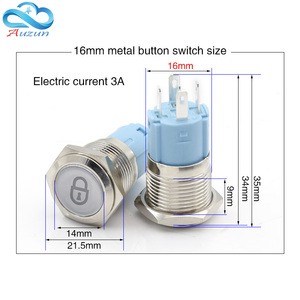 Image 3 - Metal push button switch 16mmm19mmm22mm self lock multiple graphics can be customized total switch 12v 24v 110v 220v usb wifi