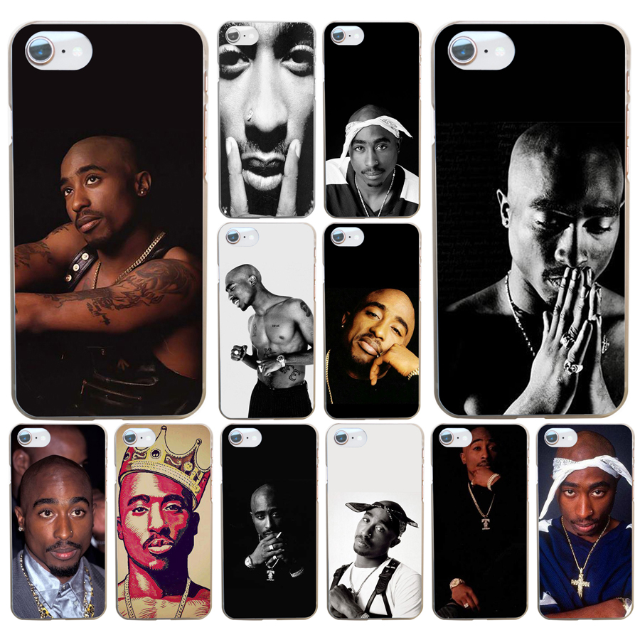 01df 2pac Tupac Shakur Hard Transparent Cover Case For Iphone 4 4s 5 5s Se 6 6s 8 Plus 7 7 Plus X