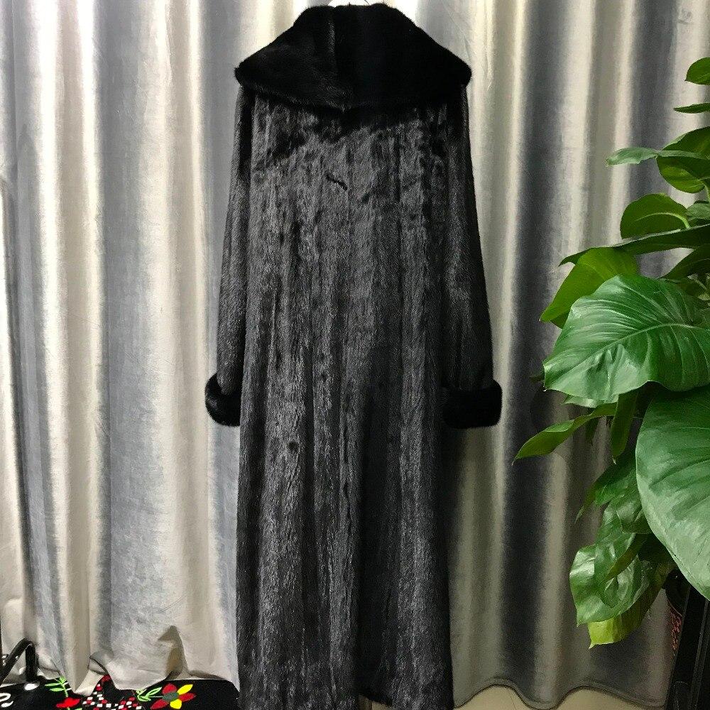 Black Imported De Manteaux Vestes Col Vison Un Nature Luxe Réel Wholeskin Noir Avec Chaud Grand X Importés Fourrure long Châle BqRUHwBW4