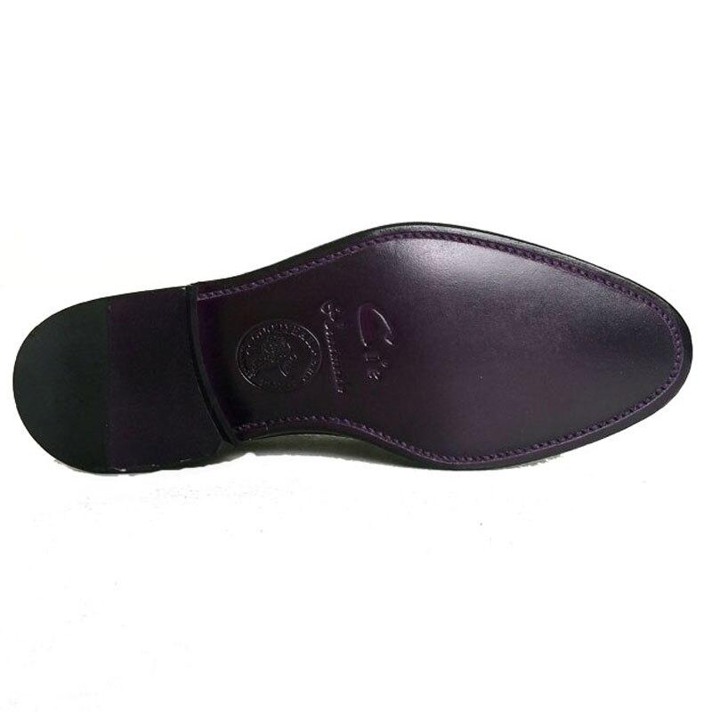 Cie/мужские туфли из натуральной телячьей кожи с закругленным носком и ремешками Goodyear; коричневая кожаная подошва, окрашенная вручную; Ms148