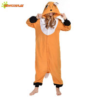 Newcosplay Anime Cosplay Costume Unisex Cartoon Brown Fox Onesie