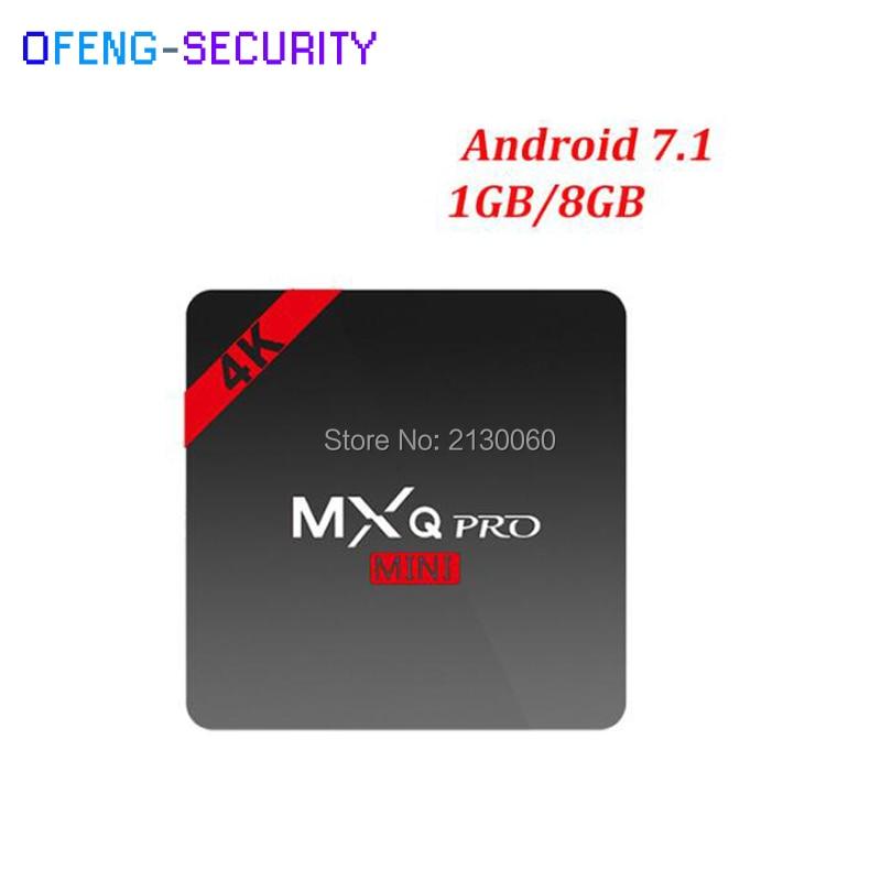 MXQ PRO 4K Android 7.1 TV Box Amlogic S905W Quad Core 1GB 8GB Smart Tv Box 2.4G WiFi Media Player PK X96mini X96 mini стоимость