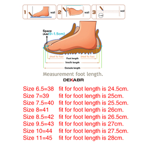 Image 5 - DEKABR Brand Men Genuine Leather Sandals Fashion Slippers Male Breathable Summer Beach Shoes Sandals Casual Men Shoes Size 38~45