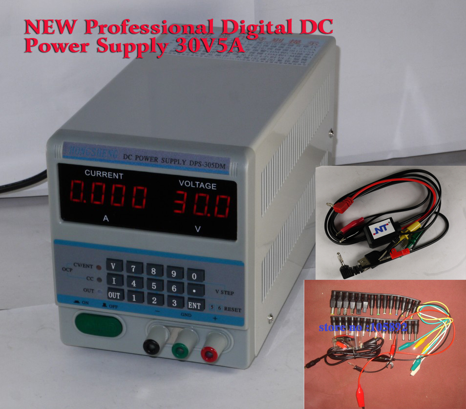305DM 220V NEW Professional Laptops and Smartphone Repair Programmable Digital DC Power Supply 30V5A DC Jack+Cable new lp2k series contactor lp2k06015 lp2k06015md lp2 k06015md 220v dc