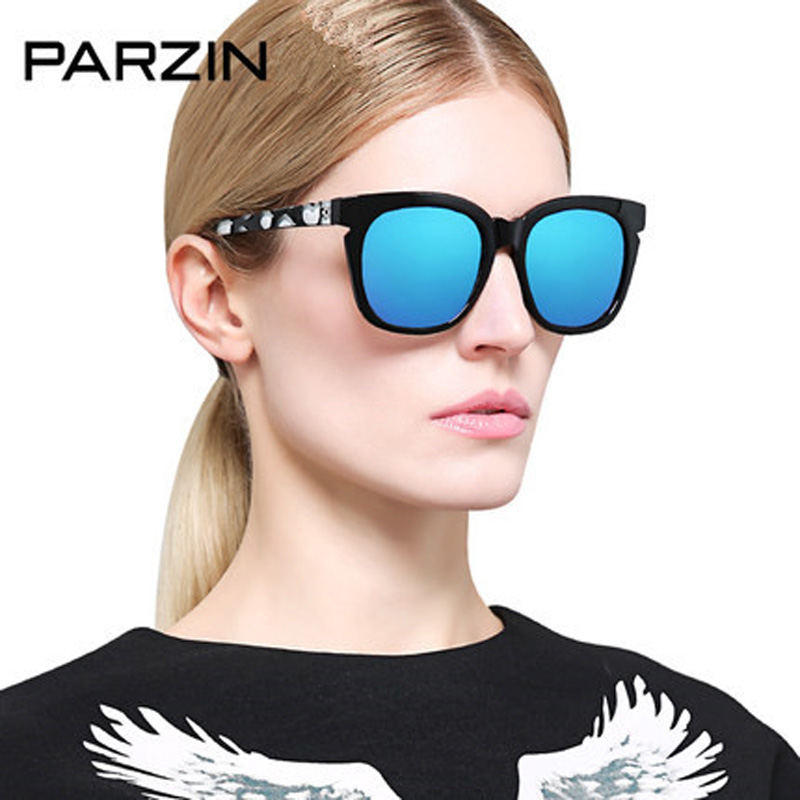 Parzin Polarized Sunglasses Women Female Vintage Colorful Oversized Sun Glasses Driving Glasses Ladies Shades With Packing 9860