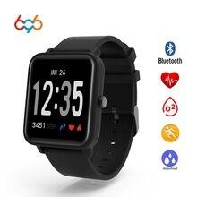 696 для мужчин женщин Смарт часы фитнес трекер сердечного ритма давление мониторы Smartwatch PK DZ09 для XIAOMI HUAMI IOS Android
