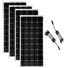 Paneles Solares 400w watt Panel Solar 12v 100w 4 Pcs in 1 Connector Charger Autocaravanas Motorhomes