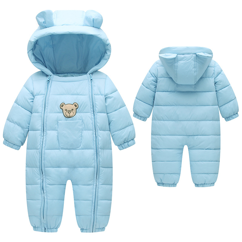 BibiCola Newborn Rompers Baby Girls Winter Down Parkas Clothes Toddler Infant Boys Jumpsuit Clothing for Bebe Winter Rompers bibicola baby rompers new winter infant bebe girls boys warm rompers jumpsuit clothes newborn baby long sleeve hooded rompers