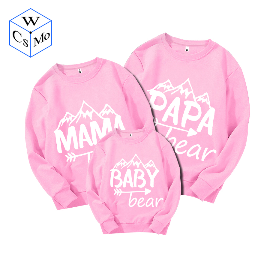 Papa Bear Mama Bear Baby Bear Matching Sweatshirts Set Daddy Mommy Toddler Infant Youth Dad Mom Customize Personalize Pullovers