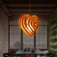 Unfinished Wood Aboriginality Wood Pendant Lights DIY Children Pendant Lamp LED Pendant Light Kit Rattan Pendant