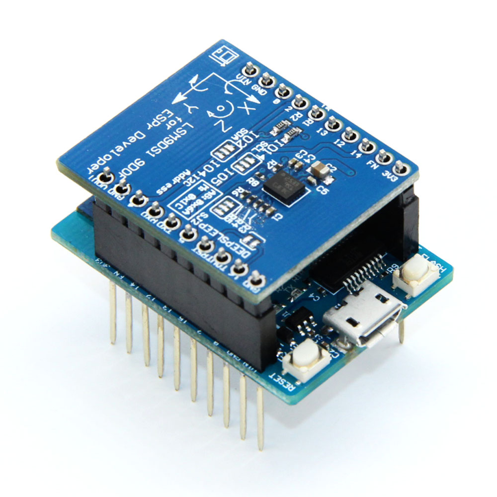 LSM9DS1 Schild for esp-wroom-02 for for nodemcu esp8266 wifi esp8266 esp 12 deleopment board nodemcu lua wifi module iot