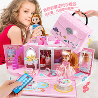 Little Ling Girls Over Every Toy, Children's Kitchen Set of Small Appliances Toys, Handbags Villa Castle Pet Set of Toys