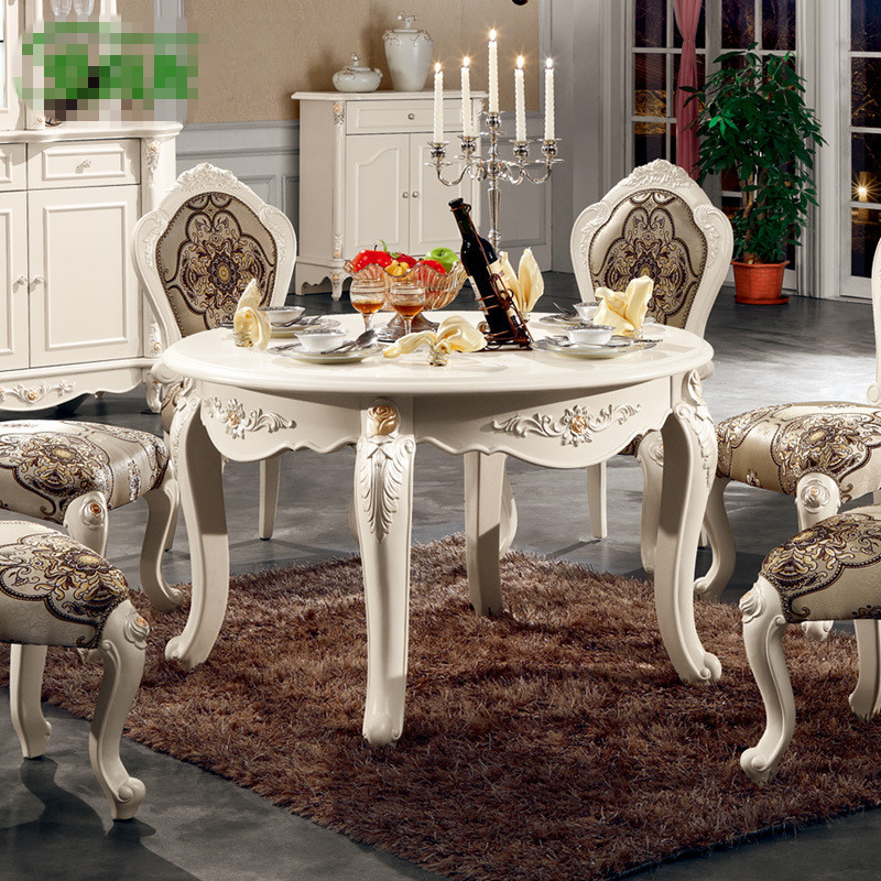 Newest Wholesale Europe French Classic Style Dining Room Sets Furniture Table And Chairs L801
