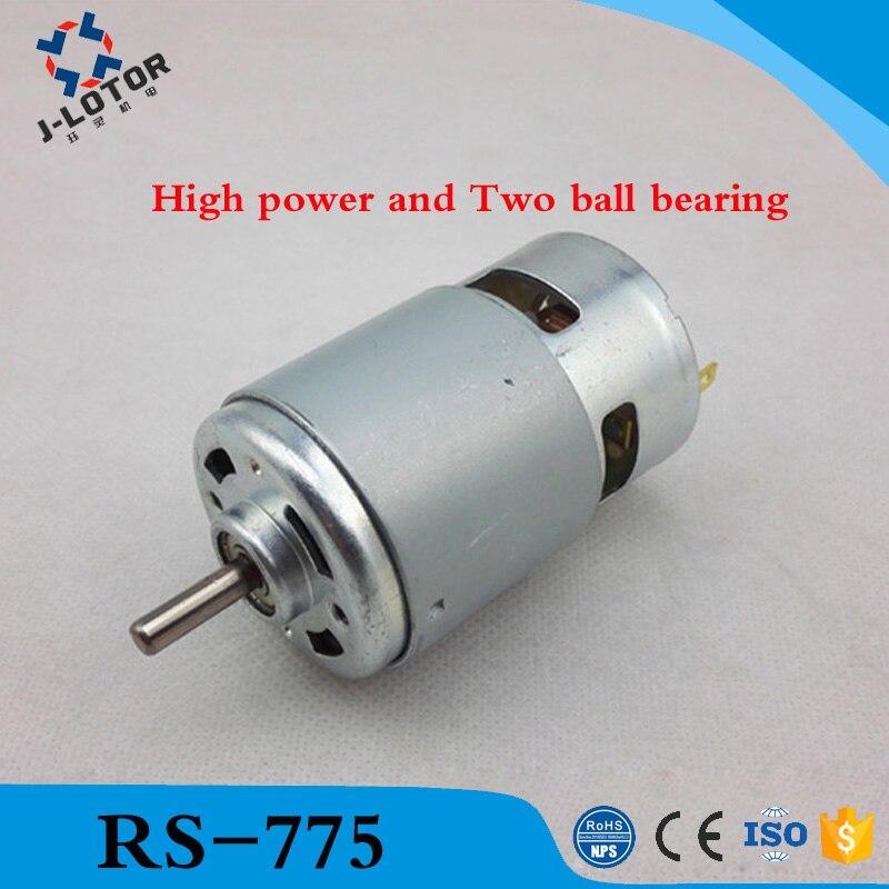 RS-775 DC 775 895 795 Moteur Pour Perceuse 12 V 24 V 80 W 150 W 288 W Brosse dc moteurs rs 775 moteur de tondeuse à gazon avec deux roulements à billes