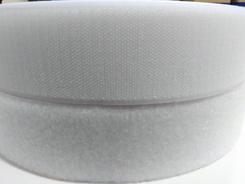 2 Rolls/set 50mm * 25 m cucire Hook e Loop cinghie per l'abbigliamento Nero o Bianco gancio anello di fissaggio nastro non adesivo