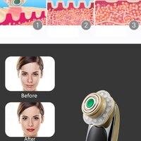 Mini Jade RF Radio 3 Color LED Light Photon Therapy Skin Massager Beauty Machine