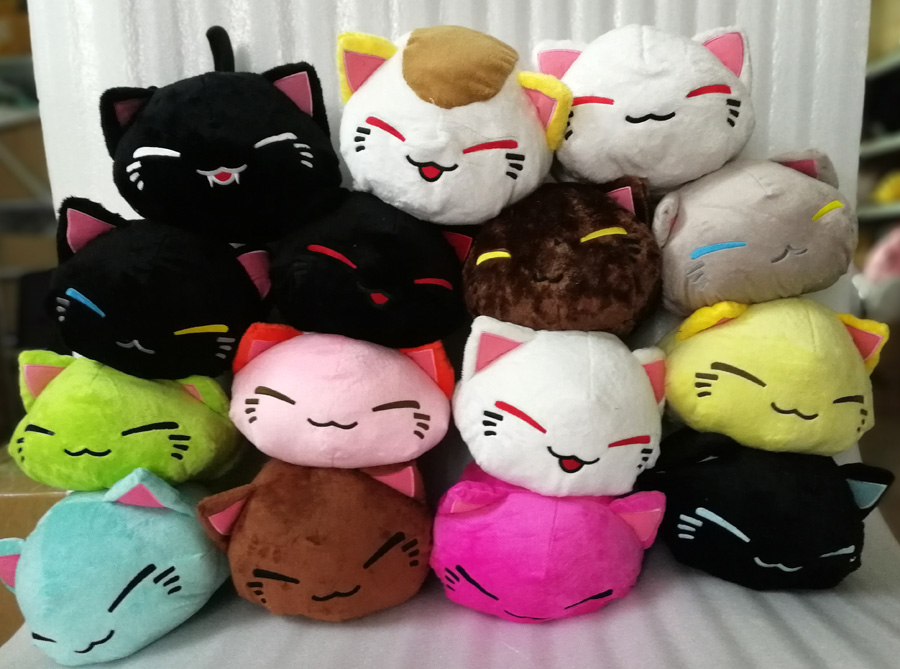 28CM Cartoon Nemuneko Figures Vampire Style Sleeping Cat Soft Plush Doll Toys Kawaii Maneki Neko Pillow Plush Toys  29 Styles