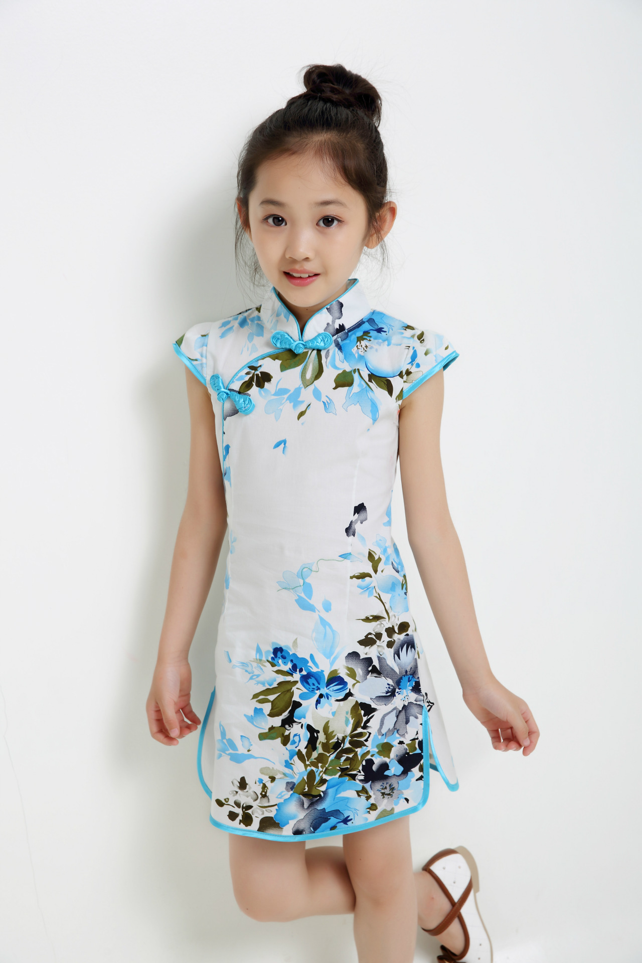 Baby Girl Summer Dress Chinese Style Cheongsam Big Floral ...