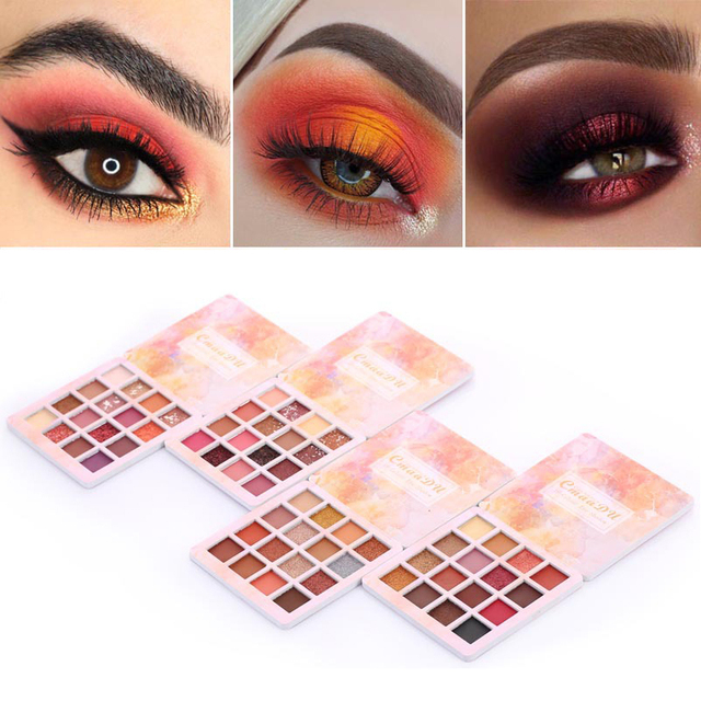 16 Colors Makeup Eyeshadow Palette Diamond Shimmer Glitter Eye Shadow Waterproof Long-lasting Makeup Eye Cosmetic TSLM2 2