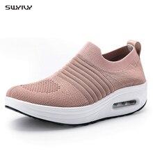 SWYIVY/Осенняя обувь на танкетке; обувь для похудения; Новинка года; женская спортивная обувь для похудения; спортивные кроссовки на платформе