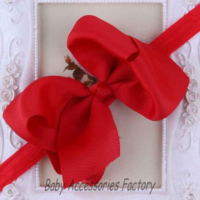(2ピース/ロット)ベビーヘアー弓ヘッドバンド子供ヘアアクセサリーサテンリボン弓の花ヘアバンド女の子クリスマス帽子12色