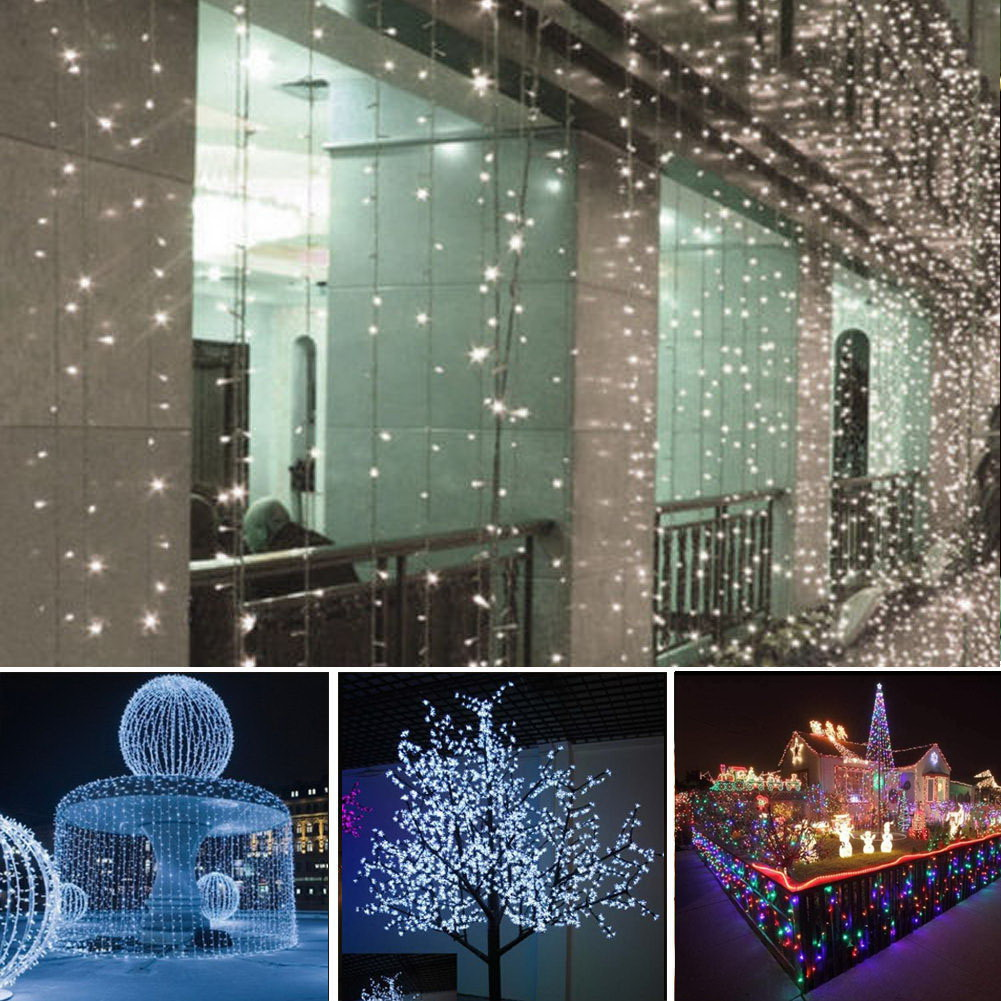 10m 100 LED Solar Lamps Copper Wire Fairy String Patio Lights 33ft  Waterproof Garden Christmas Wedding