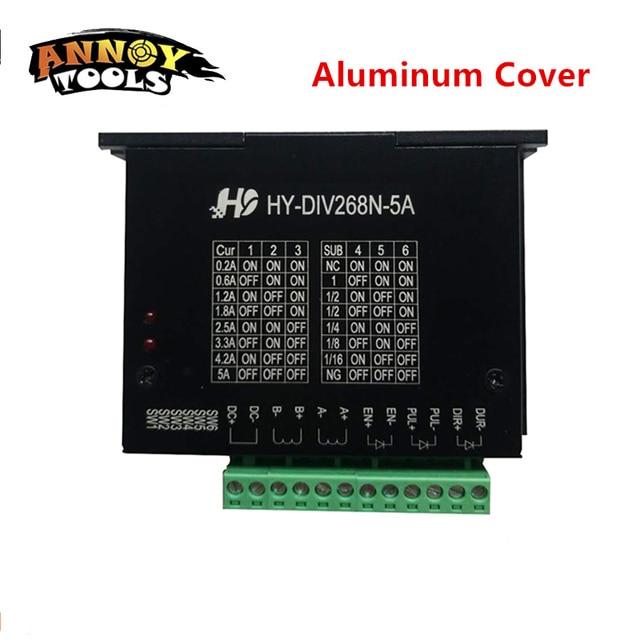 Kvaliteetne CNC üheteljeline TB6600 HY-DIV268N-5A 12-48V 0,2-5A kahefaasiline hübriid-samm-mootori juhi kontroller