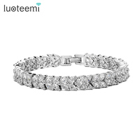 JINSE Luxury Sparkling Top Quality Swiss Cubic Zirconia Fashion Bracelets