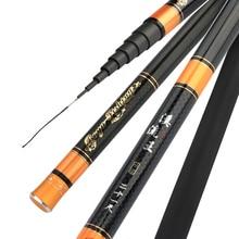 Stream Rod Carbon Fiber Ultra-light Carp Fishing Rod Braided Hand Pole SuperHard Fishing Rod 3.6M,4.5M,5.4M,6.3M,7.2M 28 Tonal