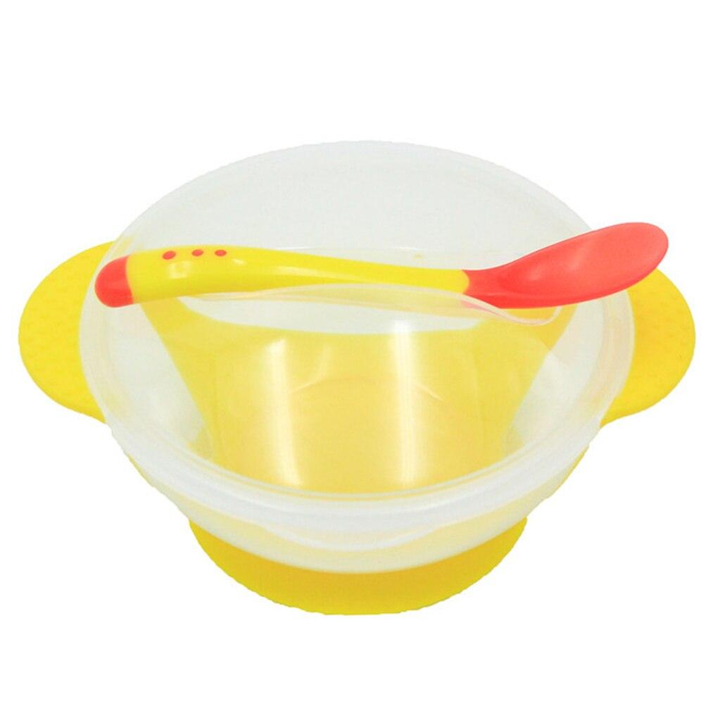 Детское питание посуда детская тарелка присоски чаши одежда для малышей Дети Ребенок кормления крышкой обучение чаша с ложкой Learnning блюд