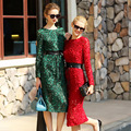 2017 das mulheres da moda verão estilo lindo vestidos de renda de luxo plus size xxl bodycon hetero dress runway vestidos de festa