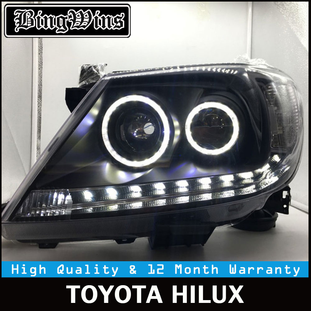 Car Revo Head light for Toyota Hilux headlight 2008 2012 2014 Vigo LED headlights with Xenon Lens and DRL Front lamp