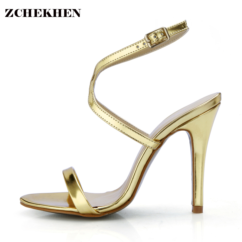 Hot sell women high heel sandals gold gladiator sandal shoes party dress shoe woman patent leather high heels 5186-11a hot women party sandals 2016 summer brand elegant high heels sandalias women s dress shoes sandal sjl342 page 7