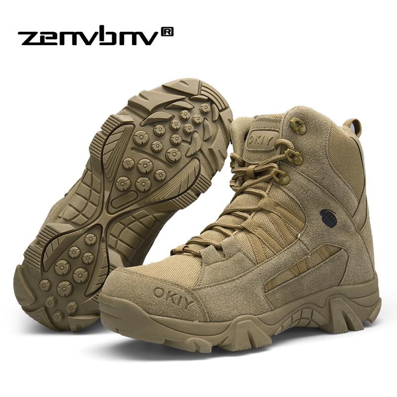 Winter/herbst Männer Wüste Militärische Taktische Stiefel Armee Outdoor Wandern Boot Mode Casual Schuhe Wasserdichte Arbeits Kampf Stiefel Home