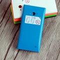 Original de substituição de habitação case para nokia lumia 730 bateria de volta capa case para nokia 735 com botão lateral + logotipo 730 case enseada