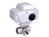 1 1/4 inch 3 Way Stainless Steel SS304 Pneumatic Electric Ball Valve