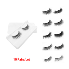 10 Pairs/Lot 3D Eyelashes 33 Styles False Eye Lashes Natural Long Cruetly free Eyelashes Extension Makeup Tools Kit